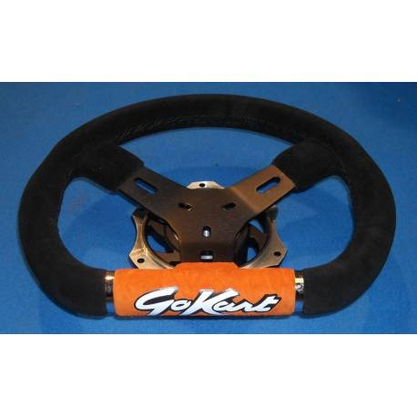 Steering wheel GOKART ALCANTARA black/orange