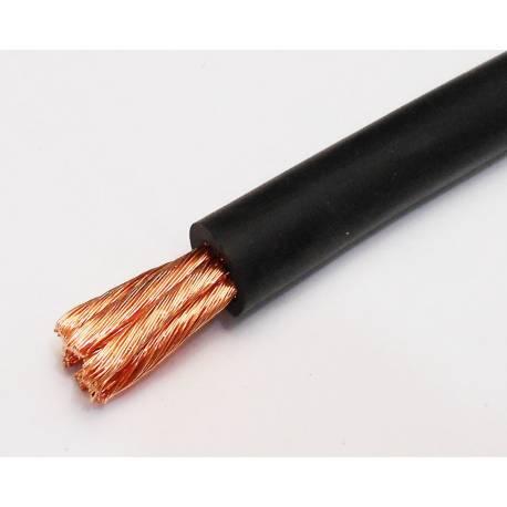 Black Hi-Flex 25mm2 cable per meter