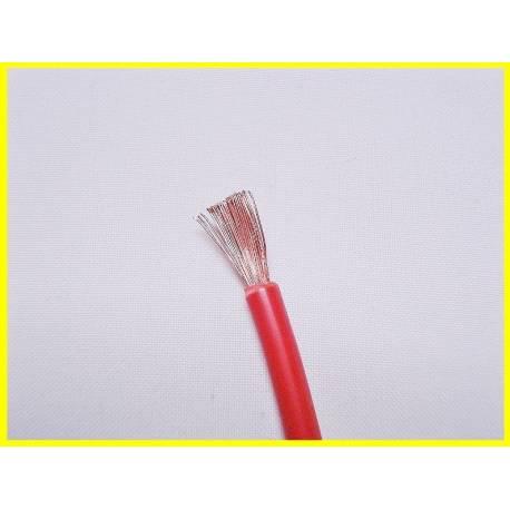 Câble souple 4mm2 rouge le mètre