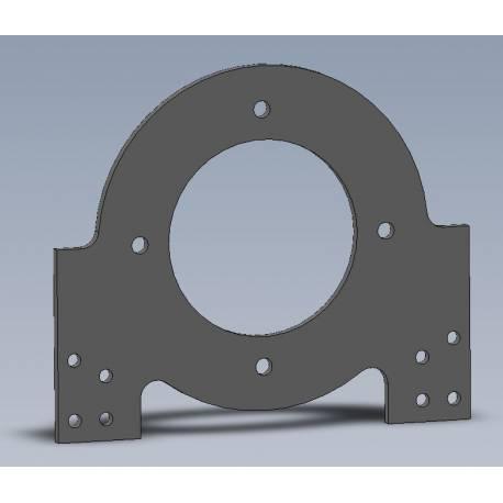 Plaque support moteur MOTENERGY acier 6mm pour banc moteur