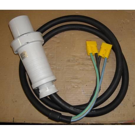 Câble pour 2 chargeurs GYS 12V HF avec prise mâle PK 63A