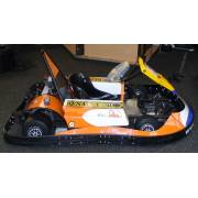 Electric kart with batteries and charger