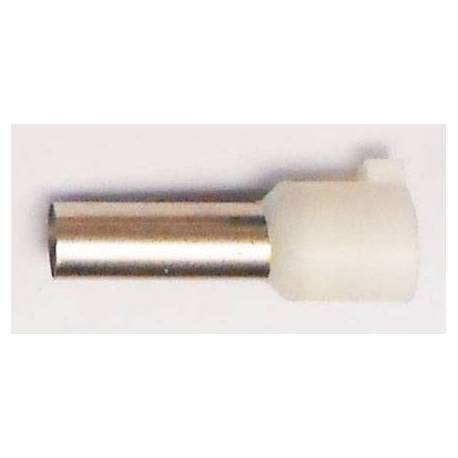Cable end insulated 16mm2 white 25mm