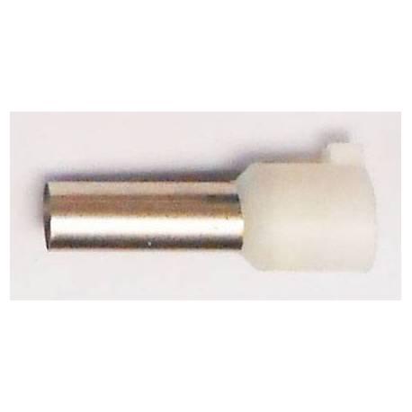 Embout de câblage 16mm2 blanc 25mm