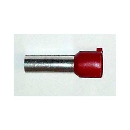 Embout de câblage 35mm2 rouge 25mm