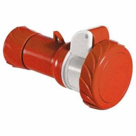Female Plug 16A 380V-415V Red 3P+N+T IP67