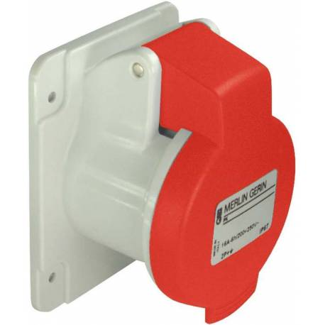 Socket 16A male red 3P+N+T 380V-415V