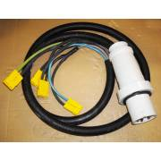 Charging cable for 4 x 12V DC charger with a PK 63A male plug