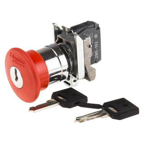 Emergency stop button with 455 key complete