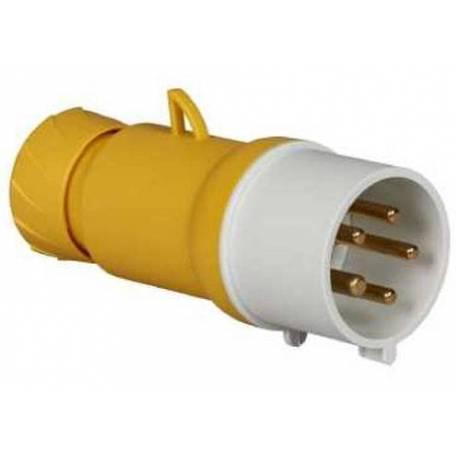 32A Male 32A Plug Pratika Yellow 3P+N+T