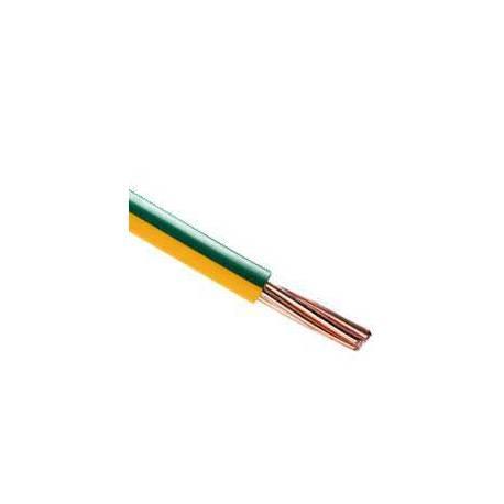 Câble souple 2.5mm2 jaune-vert le mètre