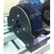 Plaque support moteur PMG132 acier 6mm pour banc moteur