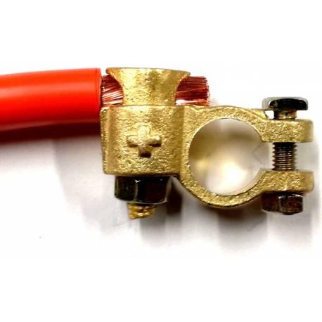 Cosse de batterie positive (+) double serrage