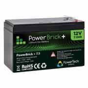12V – 7.5Ah Lithium battery – PowerBrick+