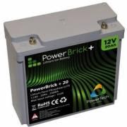 12V – 20Ah Lithium battery – PowerBrick+