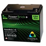12V – 45Ah Lithium battery – PowerBrick+