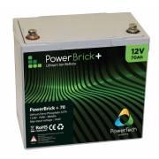 12V – 70Ah Lithium battery – PowerBrick+