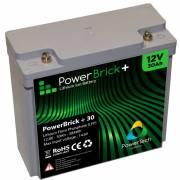 12V – 30Ah Lithium battery – PowerBrick+