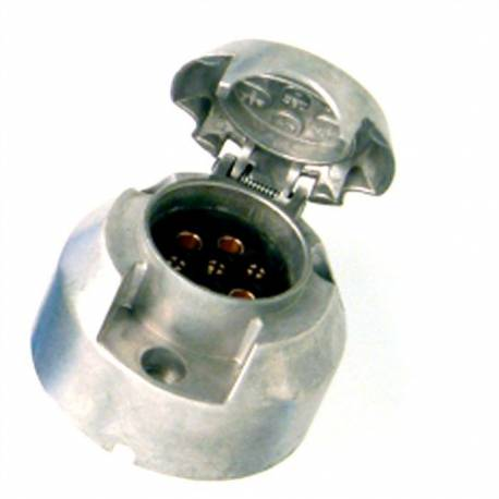 Metalic trailer socket 7-pin connector