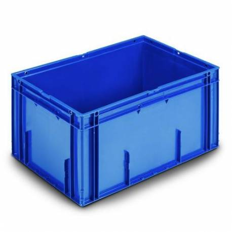 Stacking container 60 liters plastic blue