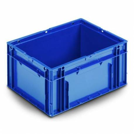 Stacking container 19 liters plastic blue