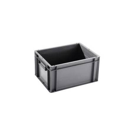 Stacking container 18 liters plastic gray