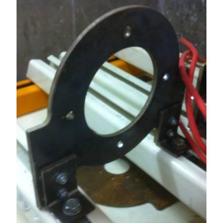 Plaque support moteur PMS120 acier 6mm pour banc moteur