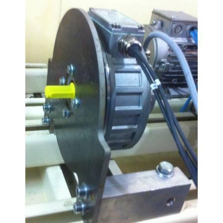 Plaque support moteur PMS080 acier 6mm pour banc moteur